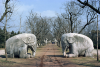 Elephant statues on Sacred Way, Ming Tombs, Nanking, China, Asia 20062008723| 写真素材・ストックフォト・画像・イラスト素材|アマナイメージズ