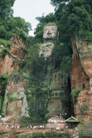 Statue of the Buddha at Lesha (Leshan), Sichuan Province, China, Asia 20062008745| 写真素材・ストックフォト・画像・イラスト素材|アマナイメージズ