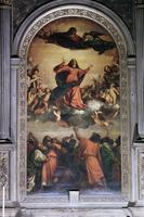 The Assumption by Titian, S. Maria dei Frari, Venice, Veneto, Italy, Europe 20062009163| 写真素材・ストックフォト・画像・イラスト素材|アマナイメージズ