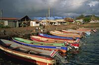 Tuna fishing boats, Hanga Roa, Easter Island, Chile, South America 20062009446| 写真素材・ストックフォト・画像・イラスト素材|アマナイメージズ
