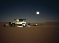 Sahara Desert at night, Algeria, North Africa, Africa 20062009536| 写真素材・ストックフォト・画像・イラスト素材|アマナイメージズ