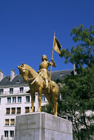 Statue of Joan of Arc, Caen, Basse Normandie (Normandy), France, Europe