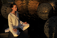 Meditation, Shangri La Boracay Resort and Spa in Boracay, Philippines, Southeast Asia, Asia