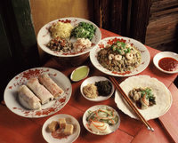Ingredients of fresh spring rolls, China, Asia 20062010620| 写真素材・ストックフォト・画像・イラスト素材|アマナイメージズ