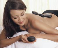 Hot stones massage,