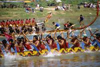 Boat racing, Nan, Thailand, Southeast Asia, Asia 20062010759| 写真素材・ストックフォト・画像・イラスト素材|アマナイメージズ