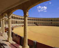 Plaza de Toros (bull ring) dating from 1785, Ronda, Andalucia (Andalusia), Spain, Europe 20062011591| 写真素材・ストックフォト・画像・イラスト素材|アマナイメージズ