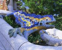 Gaudi architecture, Parc Guell, UNESCO World Heritage Site, Barcelona, Catalunya (Catalonia) (Cataluna), Spain, Europe 20062011621| 写真素材・ストックフォト・画像・イラスト素材|アマナイメージズ