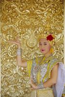 Traditional Thai dancer, Chiang Mai, Thailand, Asia