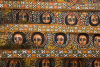 The famous painting on the ceiling of the winged heads of 80 Ethiopian cherubs, UNESCO World Heritage Site, Gonder, Debre Berhan 20062011957| 写真素材・ストックフォト・画像・イラスト素材|アマナイメージズ