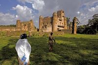 Fasiladas' Palace, The Royal Enclosure, Gonder, Ethiopia, Nortern Ethiopia, Africa 20062011962| 写真素材・ストックフォト・画像・イラスト素材|アマナイメージズ