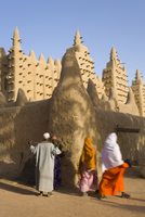 Djenne Mosque, the largest mud structure in the world, UNESCO World Heritage Site, Djenne, Niger Inland Delta, Mali, West Africa