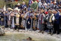 Ainu festival, Marimo, Lake Akan, Hokkaido, Japan, Asia 20062012345| 写真素材・ストックフォト・画像・イラスト素材|アマナイメージズ