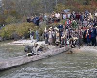 Ainu Marimo festival, Akan, island of Hokkaido, Japan, Asia 20062012437| 写真素材・ストックフォト・画像・イラスト素材|アマナイメージズ
