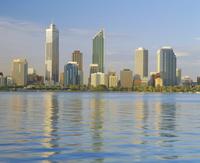 City skyline, Perth, Western Australia, Australia 20062012711| 写真素材・ストックフォト・画像・イラスト素材|アマナイメージズ