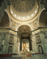 Interior of St.Peter's Basilica, The Vatican, Rome, Lazio, Italy, Europe 20062013884| 写真素材・ストックフォト・画像・イラスト素材|アマナイメージズ