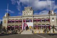 Iolani Palace, Honolulu. Oahu. Hawaii, United States of America, Pacific 20062014514  写真素材・ストックフォト・画像・イラスト素材 アマナイメージズ