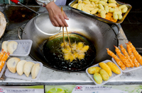 Wenshu Yuan food stall, Chengdu, Sichuan, China, Asia