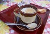 Belgian coffee enjoyed in Watou, near Poperinge, West Flanders, Belgium, Europe 20062018071| 写真素材・ストックフォト・画像・イラスト素材|アマナイメージズ