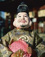 Masked figure at festival, Japan, Asia 20062018153| 写真素材・ストックフォト・画像・イラスト素材|アマナイメージズ