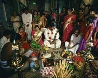 Traditional Hindu wedding, Little India, Singapore, Southeast Asia, Asia 20062018155| 写真素材・ストックフォト・画像・イラスト素材|アマナイメージズ
