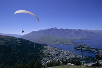 Tandem parapenting, Queenstown, Otago, South Island, New Zealand, Pacific
