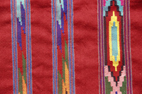Detail of a Kulu shawl from the Himalaya, Himachal Pradesh, India, Asia