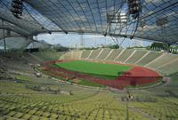 Interior of the Olympic Stadium, Munich, Bavaria, Germany, Europe 20062019942  写真素材・ストックフォト・画像・イラスト素材 アマナイメージズ
