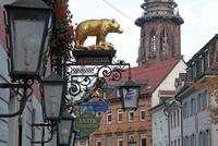 Salzstravue and Minster, Old Town, Freiburg, Baden-Wurttemberg, Germany, Europe 20062020260  写真素材・ストックフォト・画像・イラスト素材 アマナイメージズ