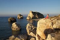 Petra tou Romiou, Aphrodite's Rock, UNESCO World Heritage Site, near Paphos, Cyprus, Mediterranean, Europe 20062020366| 写真素材・ストックフォト・画像・イラスト素材|アマナイメージズ