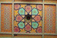 Painted ceiling, Tash Khauli Palace, Khiva, Uzbekistan, Central Asia 20062020783| 写真素材・ストックフォト・画像・イラスト素材|アマナイメージズ