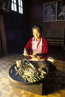 Local Intha cheroot-maker, Inle Lake, Myanmar (Burma), Asia