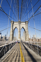 Brooklyn Bridge, New York City, New York, United States of America, North America 20062021569| 写真素材・ストックフォト・画像・イラスト素材|アマナイメージズ