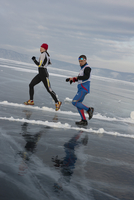 The 9th Lake Baikal Ice marathon, Lake Baikal, Irkutsk Oblast, Siberia, Russian Federation, Eurasia 20062022216| 写真素材・ストックフォト・画像・イラスト素材|アマナイメージズ