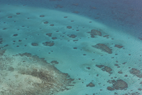 Aerial photography of coral reef formations of the Great Barrier Reef, UNESCO World Heritage Site, near Cairns, North Queensland
