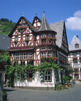 Houses dating from the 16th century at Bacharach in the Rhineland, Germany, Europe