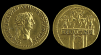 Gold aureus of emperor Claudius