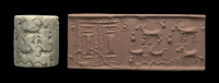 White calcite (marble) cylinder seal