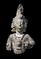 This sculpture of the Maize God, is one of eight that were o