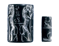 Cylinder seals like these were first made in Mesopotamia, mo