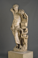 This colossal marble statue came from the Temple of Apollo a