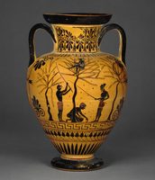 Black-figured amphora, attributed to The Antimenes Painter
