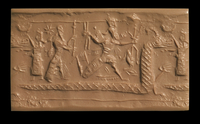 Cylinder Seal impression, Neo-Assyrian, 900BC-750BC