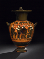 Black-figured hydria (water-jar) depicting Medea boling the  20065000477| 写真素材・ストックフォト・画像・イラスト素材|アマナイメージズ
