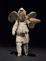 Terracotta figure of Eros either in flight or else alighting