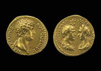 Gold aureus of Hadrian