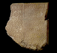 The Flood Tablet, relating part of the Epic of Gilgamesh, Ne