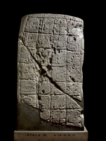 Stela m-9-14-0-0-0. Slab, tablet (with hieroglyphs) made of