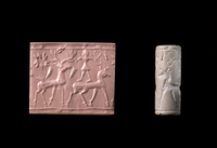 This limestone cylinder seal was found by the excavator Leon