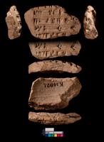 Portion of inscribed clay boss, inscription of Shalmaneser I 20065000688| 写真素材・ストックフォト・画像・イラスト素材|アマナイメージズ